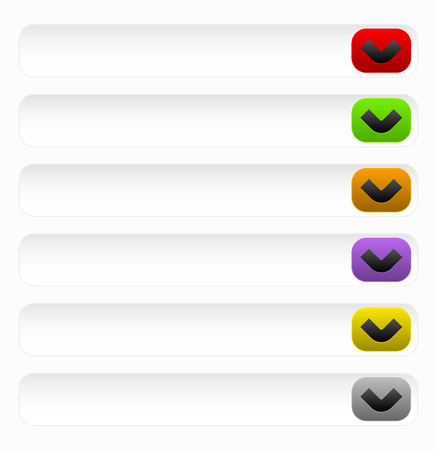 Vector Illustration of Generic, or Drop Down Buttons With Arrow Vector