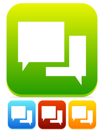 dialog baloon: Vector Illustration of Speech Bubble Chat Icons
