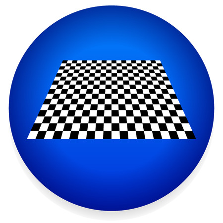 tile flooring: Vector Illustration of a Simple Icon with Checkered Plane. Checkerboard, Chess Board Pattern