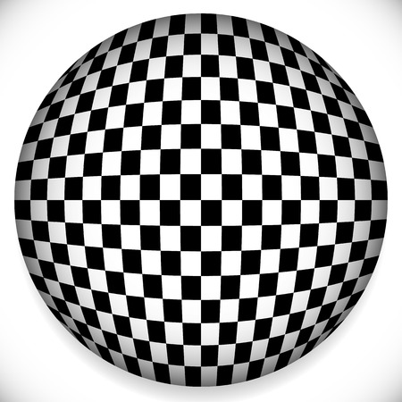 Vector Illustration of a Sphere with Checkered Pattern