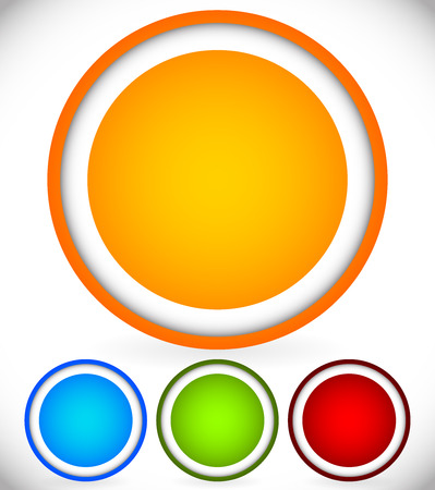 ten empty: Vector Illustration of Bright, Colorful Circle Backgrounds Illustration