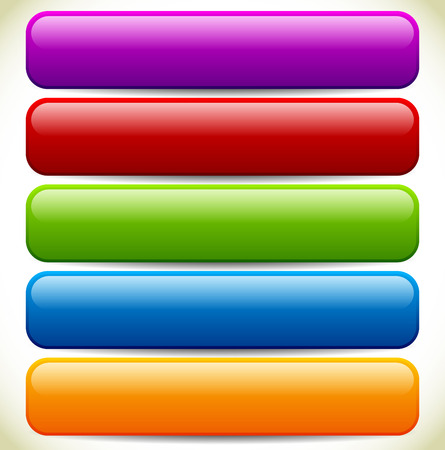 oblong: Vector Illustration of Colorful Button  Banner Backgrounds with Glossy Effect and Empty Space Illustration