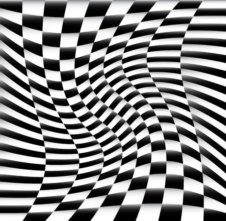 chequered: Vector Illustration of Chequered Pattern  Background With Swirling Effect