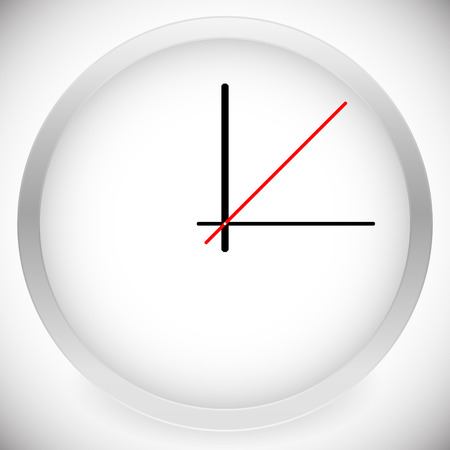 hour hand: Vector Illustration of Clock Template with 3 Hour Hand.