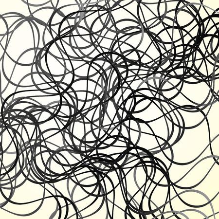 snaky: Vector Illustration of Random wavy lines. Artistic abstract background Illustration