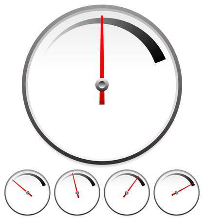 moderate: Eps 10 Vector Illustration of Dial Templates For Gauge Concept Set At 5 Stages