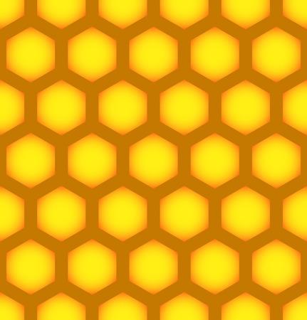 wax glossy: vector illustration of Honeycomb repeatable pattern, Seamless Hexagonal pattern.