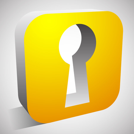10 key: Eps 10 Vector Illustration of Keyhole Icon for Privacy, Access, Security concepts. Illustration