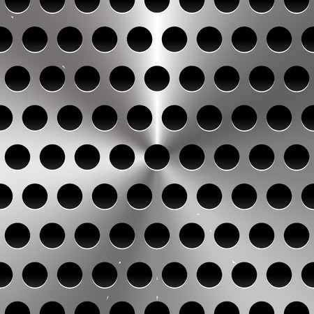 perforated sheet: Vector Illustration of Metal Sheet  Surface with Holes. Perforated Metal background.