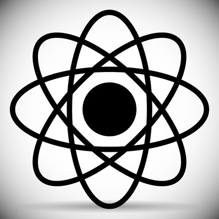 atomic symbol: Vector Illustration of Flat Molecule, Atom (Atomic) symbol Illustration