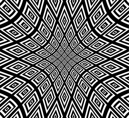 eyestrain: Vector Illustration of Square pattern with hollow distortion Illustration