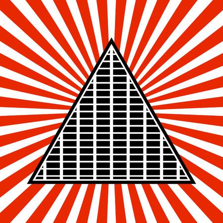 symbolic: Vector Illustration of Symbolic Pyramid Graphics Illustration