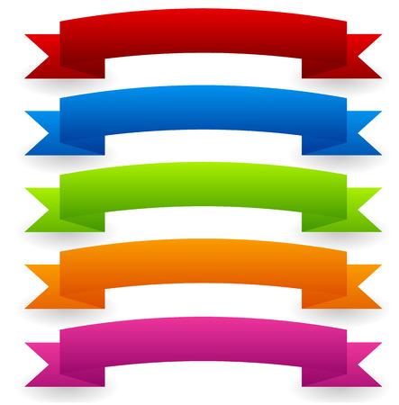 Eps 10 Vector Illustration of Colorful Vector banner set - Curved, arched version Illustration