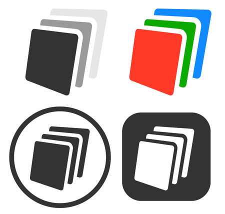 Vector Illustration of Stack, sheets of paper icon  symbol set