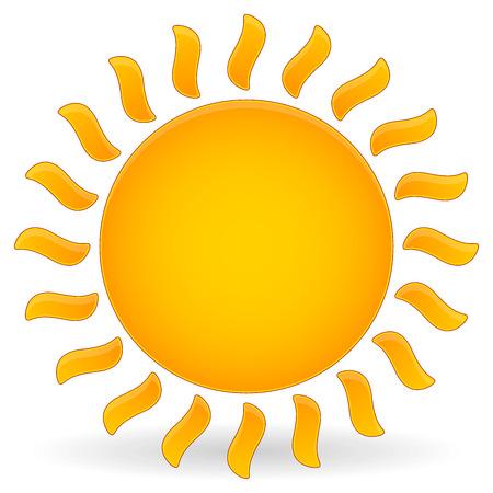 Vector Illustration of Sun vector Clip-art Ilustração