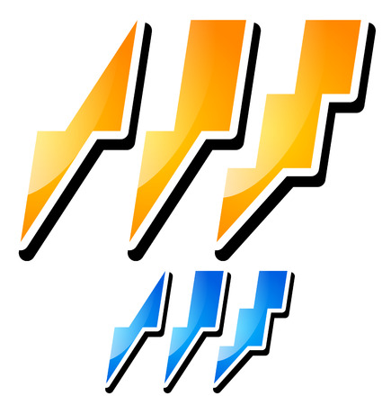 quickness: Vector Illustration of Thunderbolt, Lightening Icons Illustration