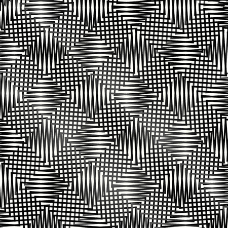 entangled: Vector Illustration of Abstract Grid Pattern With Connected Lines Forming Alternating Squares