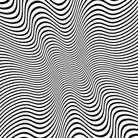 distorted: Vector Illustration of Distorted Lines Vector Background