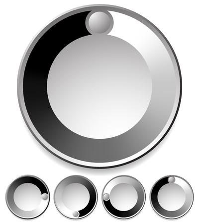 Vector Illustration of Preloader  Buffer Shapes, or Dials with Knobs