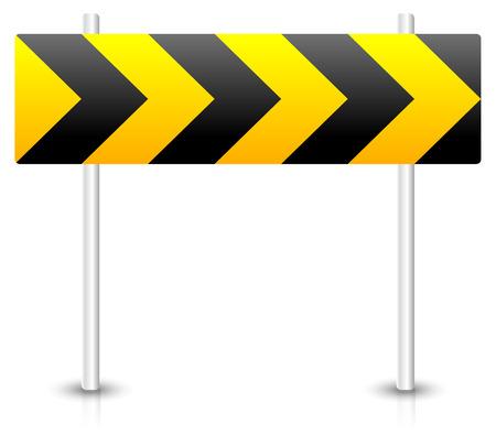 blocco stradale: Illustrazione vettoriale di segnale stradale la costruzione di strade. Concetti Blocco stradale, bypass, diversione, rotatoria. Vettoriali