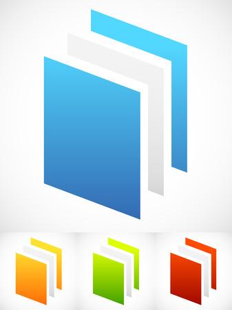 generic: Vector Illustration of Vertical Sheets Icons - Paper sheets, Paper Stacks or Generic Icons