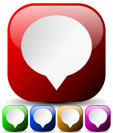 dialog baloon: Vector Illustration of Speech Bubble Icons for Communication, Forum, Message, Chat Concepts. Can Be Used as Map Markers Illustration
