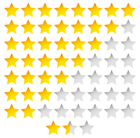 star rating: Vector Illustration of Star Rating Template Vector with group of stars Illustration