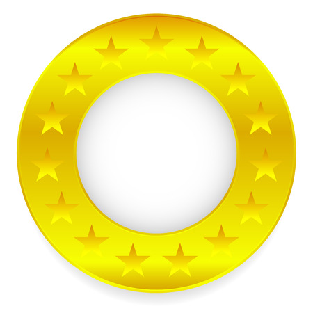 golden ring: Vector Illustration of Golden Ring, Golden Circle with stars Illustration