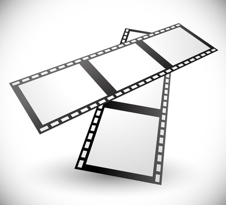 filmstrips: Vector Illustration of Composition of 3d Filmstrips Vector illustration Illustration