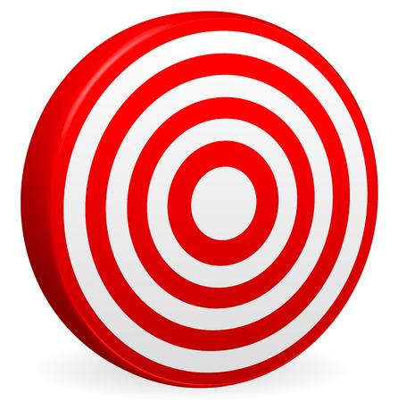 bullseye:  Illustration of Bright Red Target Vector Render. Bullseye Icon. Element for Accuracy, Aims, Accuracy, Targeting Concepts. Illustration