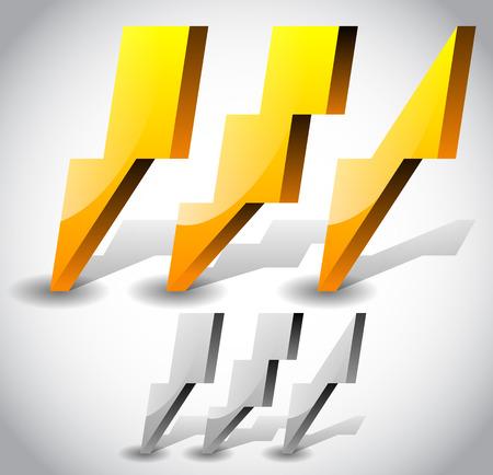 lightening: Ilustraci�n del vector del rayo, aligeramiento Iconos