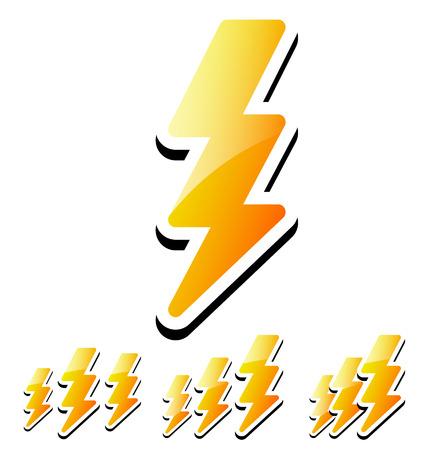 martinet: Illustration Vecteur de Thunderbolt, Lightening Ic�nes