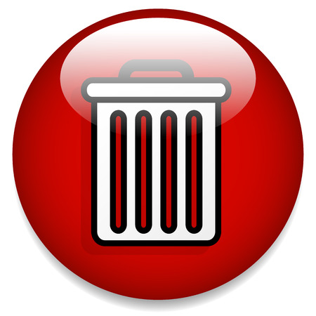 deletion: Vector Illustration of Trash Can Button  Trash Can Icon