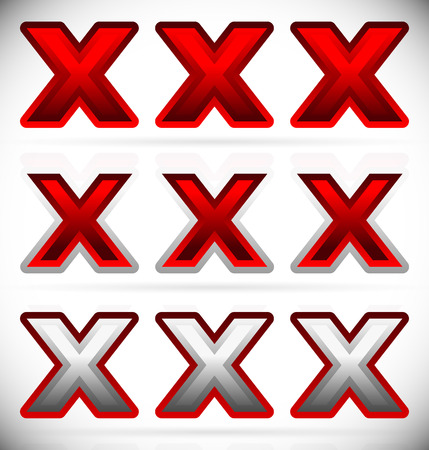 x rated: Vector Illustration of Triple X, Cross Graphics in Red
