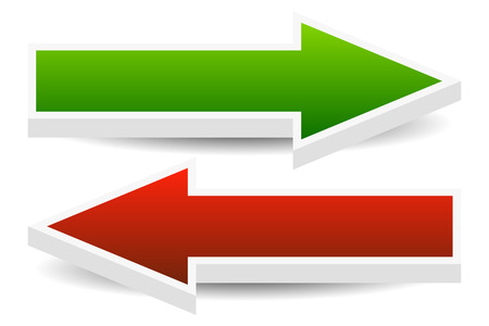 Vector Illustration of Left and Right Arrows