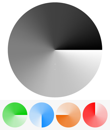 clockwise: Vector Illustration of Circular Elements with Transparency (Opacity Mask with Gradient Mesh)