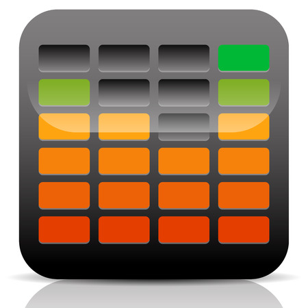 Vector Illustration of EQ - Equalizer Icon Vector