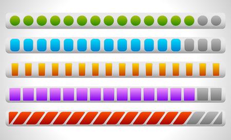 progressbar: Vector Illustration of Progress or Loading Bars