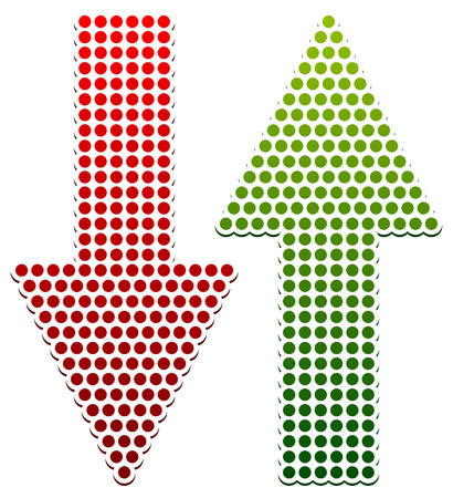 up and down: Eps Vector Illustration of Dotted Up Down Arrows Illustration