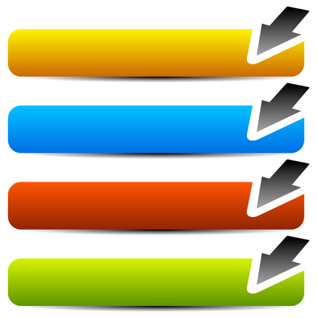 Eps 10 Vector Illustration of Horizontal buttons with arrows