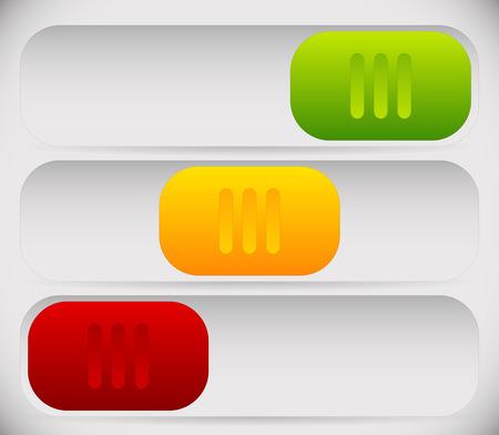 shutdown: Vector Illustration of 3 State Button Template