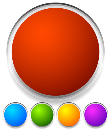 ten empty: Vector Illustration of Blank Colorful Circles