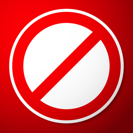 Vector Illustration of a Stylish Restricted, Prohibited Sign