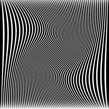 Vector illustratie van lijnen met golvende, Wervelende Distortion Effect