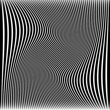 Vector Illustration of Lines with Wavy, Swirling Distortion Effect Banco de Imagens - 37834465