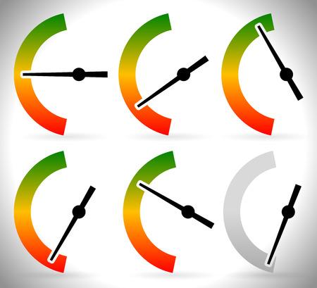 Vector Illustration of Vertical meters template