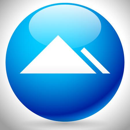 pinnacle: Vector Illustration of a Mountain Peek Icon Illustration
