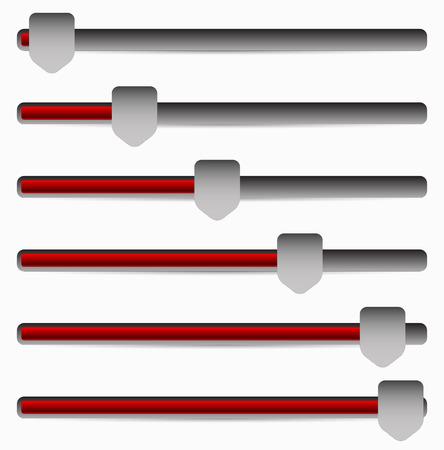 Vector Illustration of Slider, Adjuster Bars Illustration