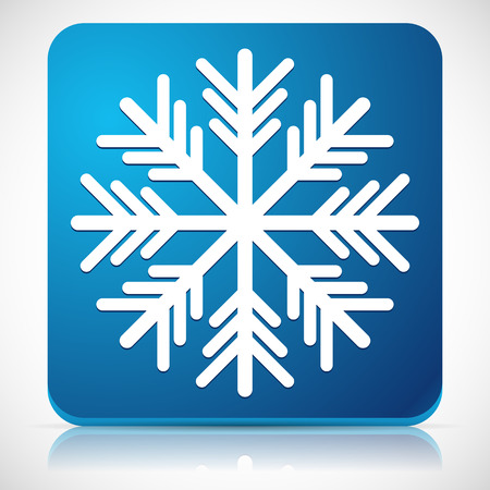 cold weather: Vector Illustration of a Snowflake Icon for Cold Weather or Cold Concepts Illustration