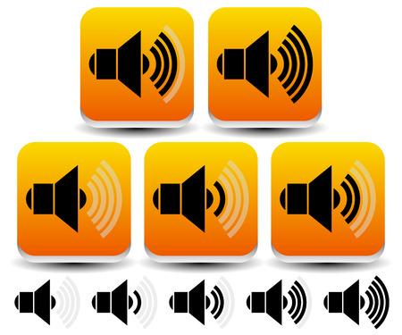 multi media: Illustrazioni vettoriali di volume  Livello Simboli Sound - Icone Vettoriali